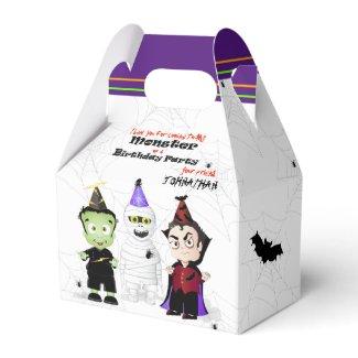 Frankenstein Mummy Dracula Halloween Birthday Favor Box