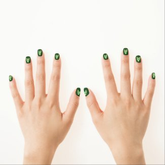 Green Awareness Ribbon Custom Nail Wrap Art Minx Nail Wraps