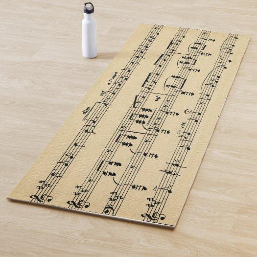 Antique Sheet Music Yoga Mat