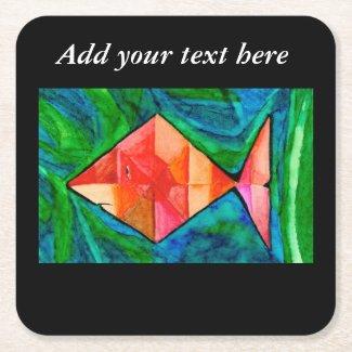 Orange Fish Coaster