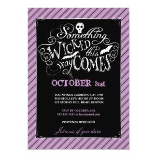 Something Wicked Happy Halloween Party Invitation