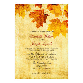 Rustic Fall Leaves Wedding Collection