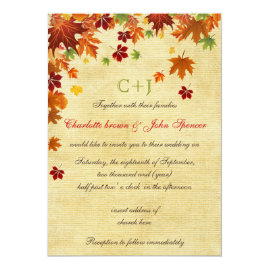 Rustic Maple Leaves Fall Wedding Collection