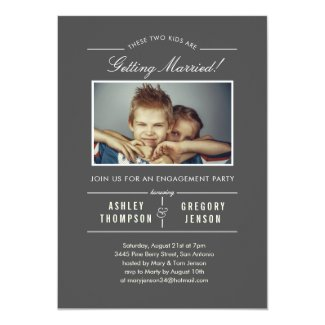 Old photo engagement party invitation