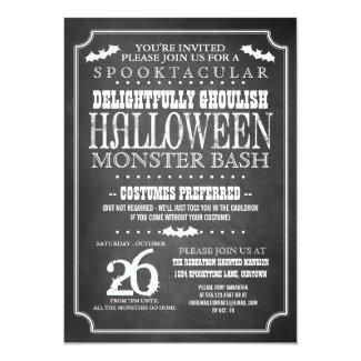 Chalkboard Halloween Costume Party Card