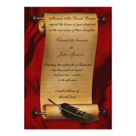 Medieval Scroll Vintage Wedding Invitations