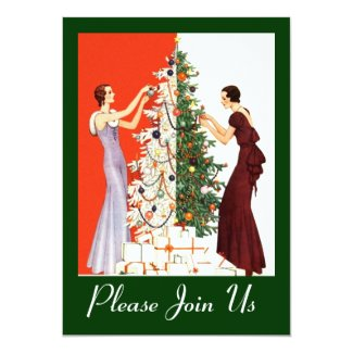 ART DECO HOLIDAY SEASON PARTY INVITE INVITATION