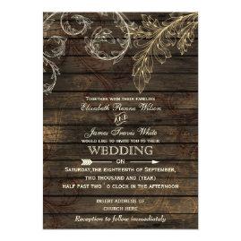Flourish   Barn Wood Wedding Invitations