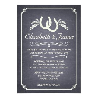 Country Horseshoe Wedding Invitations