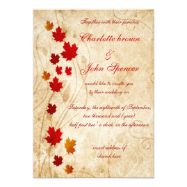 Rustic Fall Wedding Invitations Suite