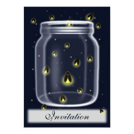 Fireflies in Mason Jar Wedding Invitations