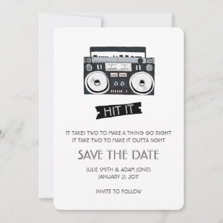 Flat Save The Date Card