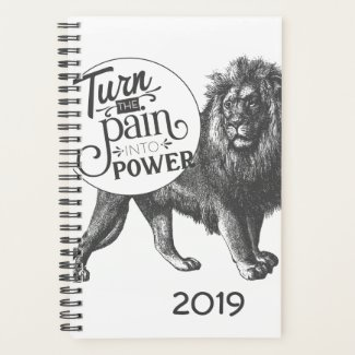 Turn the Pain into Power Lion Planner