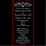 Elegant Flourish Black And White Wedding Programs Zazzle