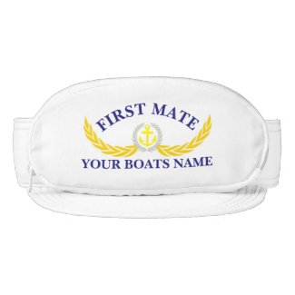 First Mate personalized boat name anchor motif Visor