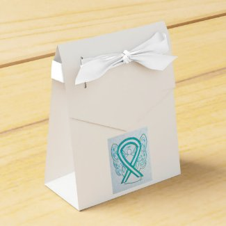Cervical Cancer Awareness Ribbon Party Favor Boxes
