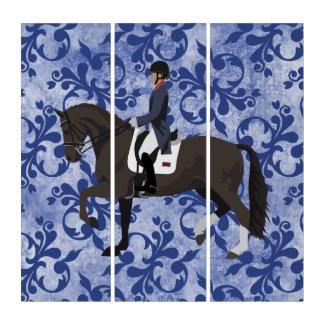 Equestrian Theme Triptych