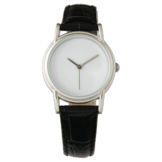 Personalized Gift Black Vintage Leather Watch