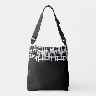 abstract geometric line art crossbody bag