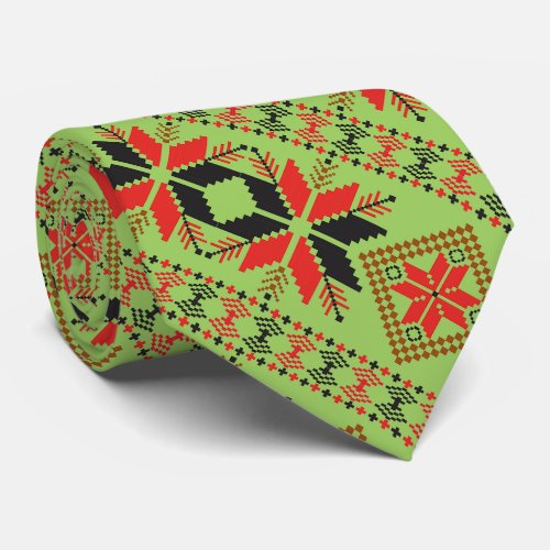 Ugly christmas sweater tie