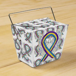 Bladder Cancer Awareness Ribbon Take Out Favor Box