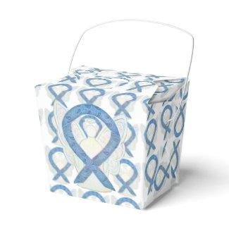 Thyroid Paisley Awareness Ribbon Angel Favor Boxes
