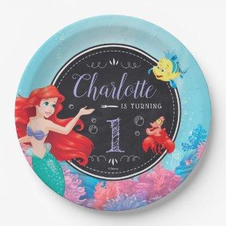 Ariel | The Little Mermaid - Chalkboard Paper Plate