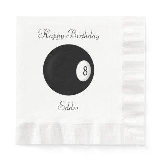 Eight Ball Billiard Theme Custom Napkin