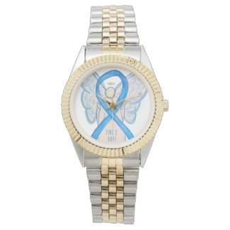 Time to Hope Light Blue Awareness Ribbon Watch