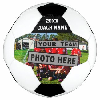 Soccer Coach Gifts TEAM PHOTO and Coach NAME Soccer Ball