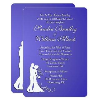 Bride and Groom Lotus Wedding Card