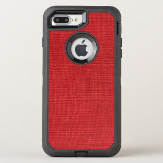 Red Linen Photo Background OtterBox Defender iPhone 7 Plus Case