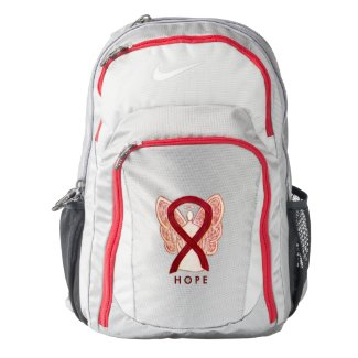 Burgundy Awareness Ribbon Customized Backpack