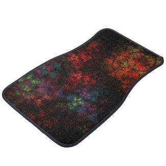 Dark Garden Fractal Car Floor Mat
