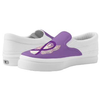 Purple Awareness Ribbon Angel Custom Shoes