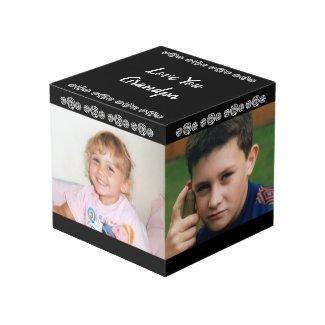 Black and white love you Grandma photo Cube