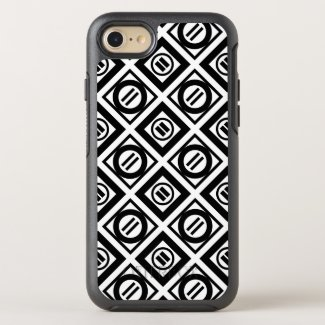 Black Equal Sign Diamond Pattern on White OtterBox Symmetry iPhone 7 Case