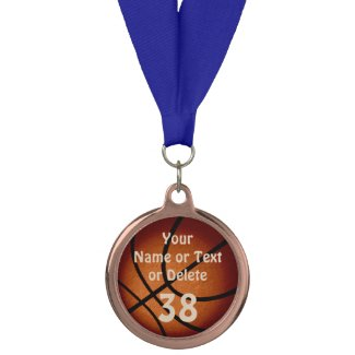 Custom Basketball Medal Awards with 2 Text Boxes