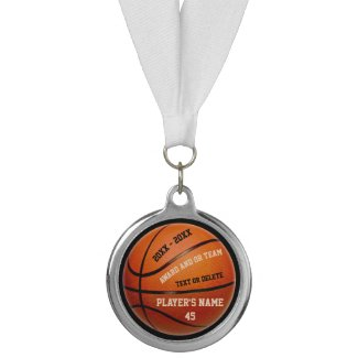 Basketball Awards Medals with Your Text and Colors Medal