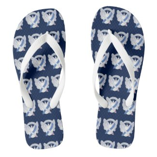 Diabetes Awareness Ribbon IDDM Angel Flip Flops
