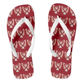 Burgundy Awareness Ribbon Angel Custom Flip Flops