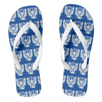 ALS Awareness Ribbon Angel Custom Flip Flops