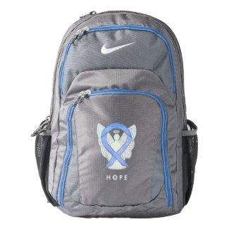Periwinkle Awareness Ribbon Angel Custom Backpack