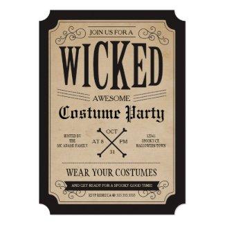 Apothecary Halloween Party Invite