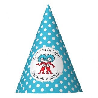 Thing 1 Thing 2 | Twins Birthday Party Hat