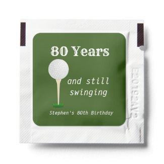Golfing Golf Lover Birthday Gift Favor Hand Sanitizer Packet