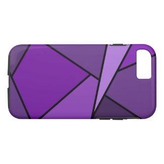 Abstract Geometric Purple Polygons iPhone 7 Case