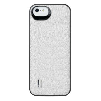 White Texture iPhone SE/5/5s Battery Case