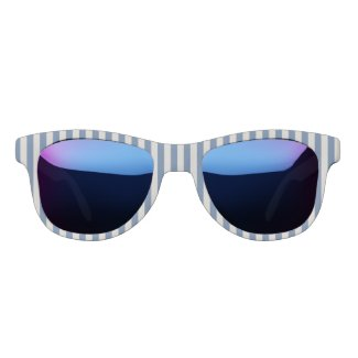 French Blue Striped Name Monogram Sunglasses