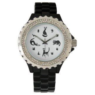 Black Cat O'Clock Watch